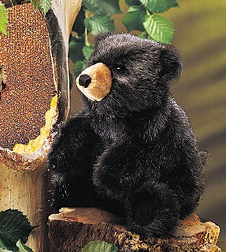 folkmanis Bear Baby Black puppet