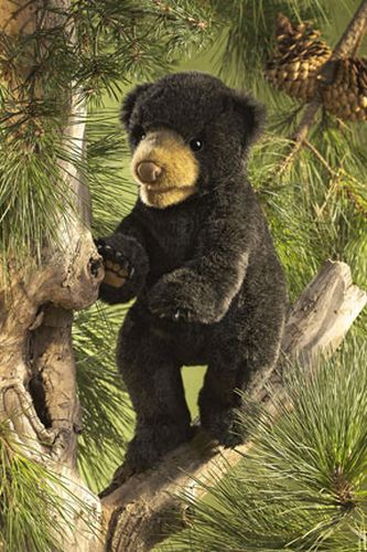 folkmanis Bear Black Cub puppet