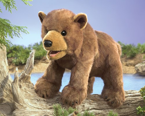 folkmanis Bear Cub Brown puppet