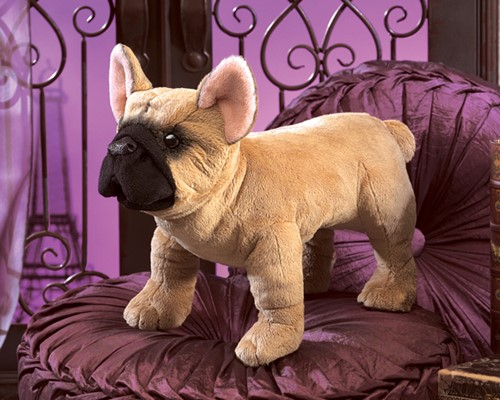 folkmanis Bulldog French puppet