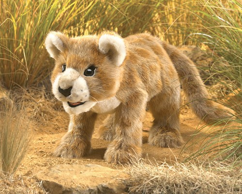 folkmanis Lion Cub African puppet