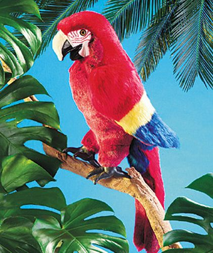 folkmanis Macaw Scarlet puppet