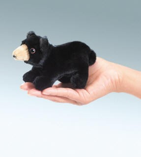 folkmanis Mini Bear Black puppet