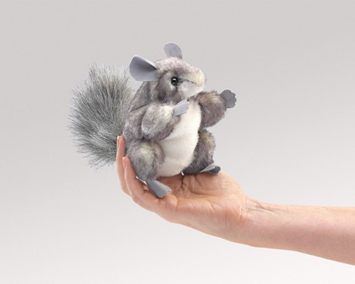 folkmanis Mini Chinchilla puppet