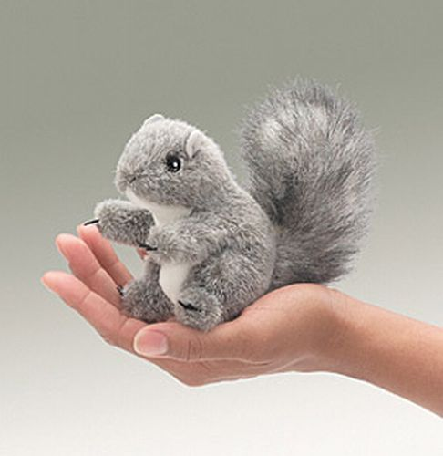 folkmanis Mini Gray Squirrel puppet