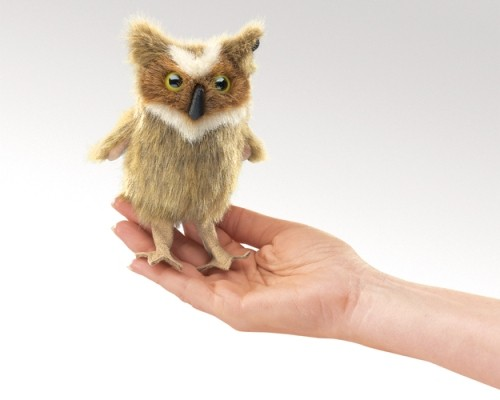 folkmanis Mini Owl Great Horned puppet