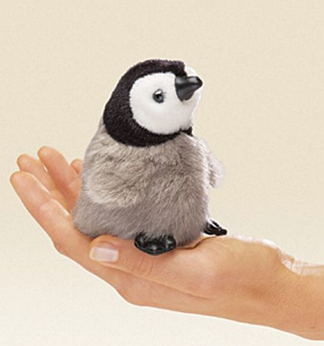 folkmanis Mini Penguin Baby Emperor puppet