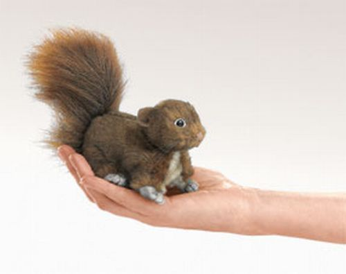 folkmanis Mini Squirrel Red puppet