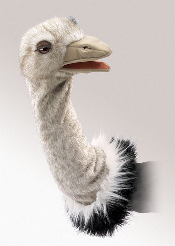 folkmanis Ostrich Stage Puppet puppet
