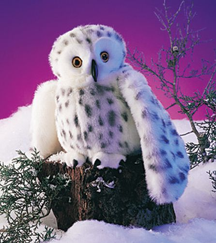 folkmanis Owl Snowy puppet