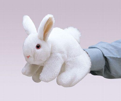 folkmanis Rabbit Bunny White puppet