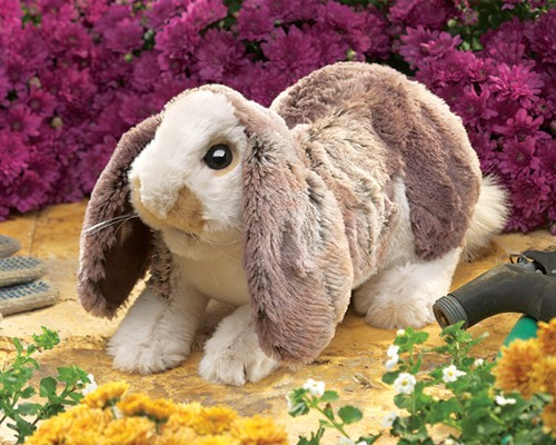 folkmanis Rabbit Lop Baby puppet