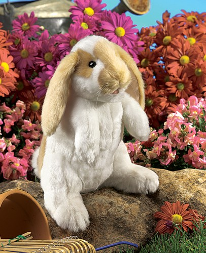 folkmanis Rabbit Standing Lop puppet