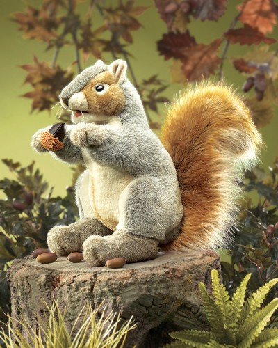 folkmanis Squirrel Gray puppet