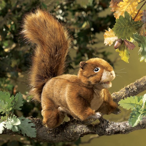 folkmanis Squirrel Red puppet