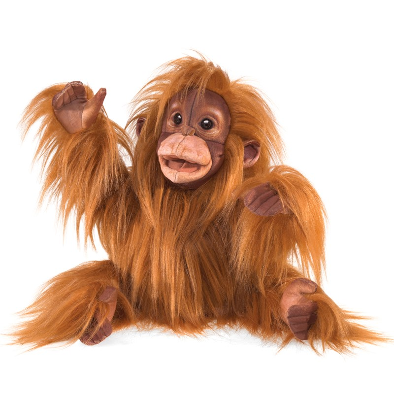 folkmanis baby orangutan puppet
